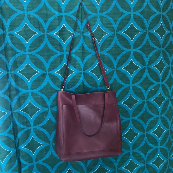 86683d86f Madewell Handbags - Madewell Medium Transport Tote Dark Cabernet